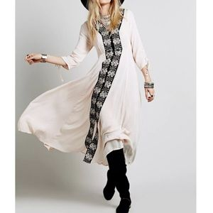 NWT- Free People Intricate long Draped Gown